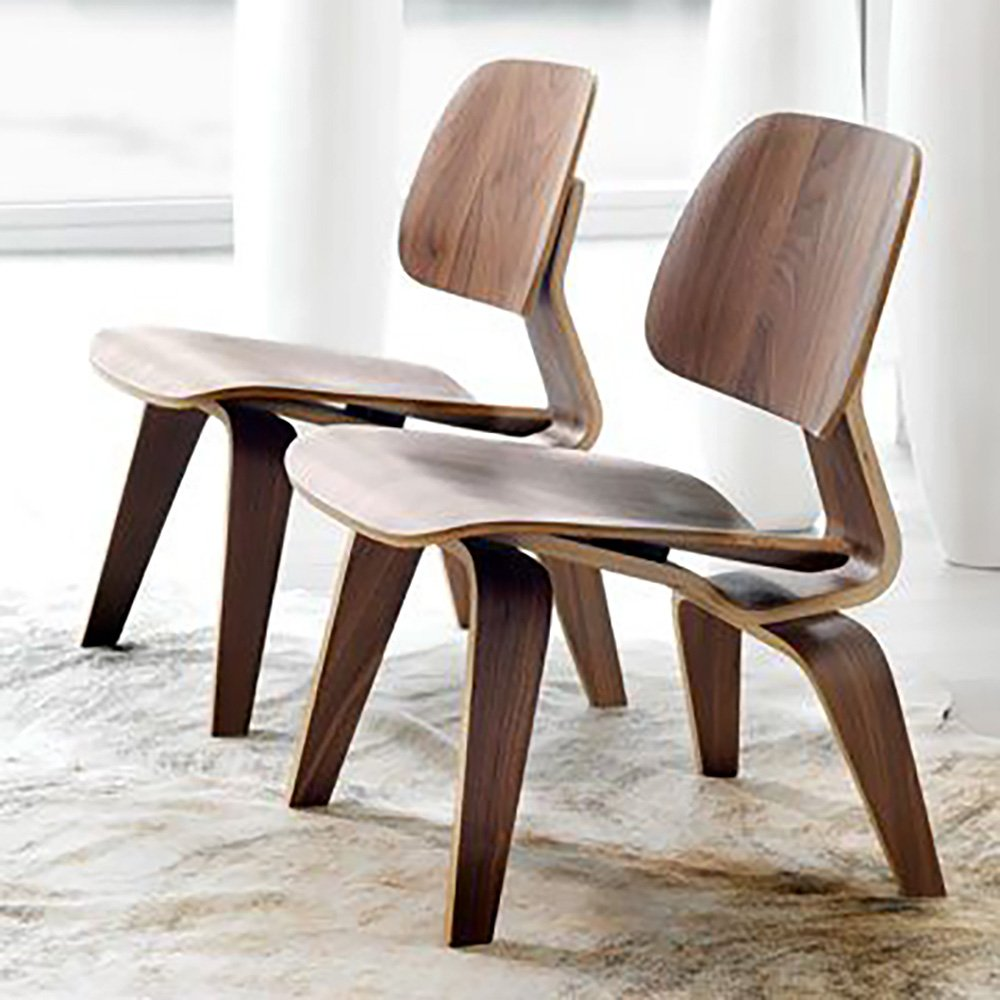 Lcw Chair By Charles Eames Walnut Mad For Modern # Muebles Wood Haedo