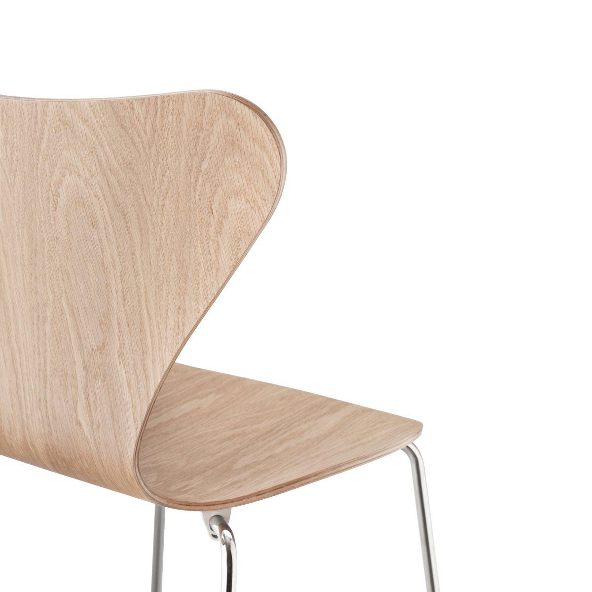 Series 7 chair by arne jacobsen inox black mad for modern - Arne jacobsen stuhl serie 7 ...
