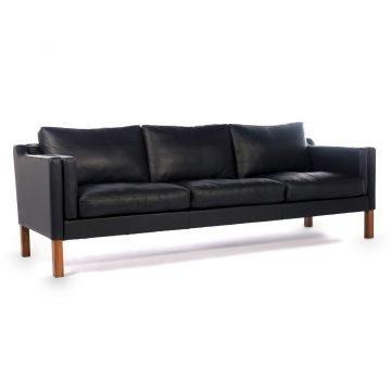 Sofa Cuero Living diseno nordico